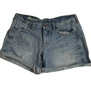 Madewell Denim Cut Off Jean Shorts Size 27